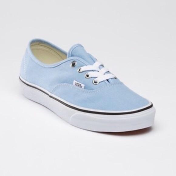 all light blue vans